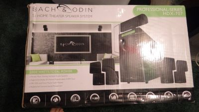 BACH & ODIN HDX-707 PROFESSIONAL SERIES 5.1 HOME THEATER SYSTEM