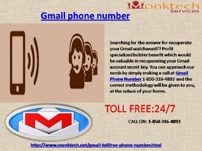 Gmail Phone Number for the best Assistance via 1-850-316-4893