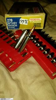 For Sale/Trade: .270 wthby magnum trade for ammo