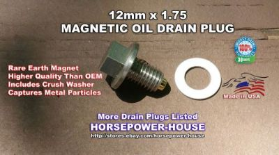 Purchase 12-1.75 US Made MAGNETIC OIL DRAIN PLUG 1992-2017 CORVETTE 5.7 6.0 6.2 7.0 ALL motorcycle in Marietta, Georgia, United States, for US $26.89