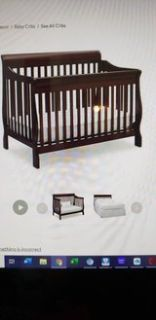 sleigh style convertible crib/bed