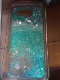 Flexible phone case with glitter