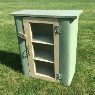 Vintage Farmhouse 3 Shelf Wood Cabinet