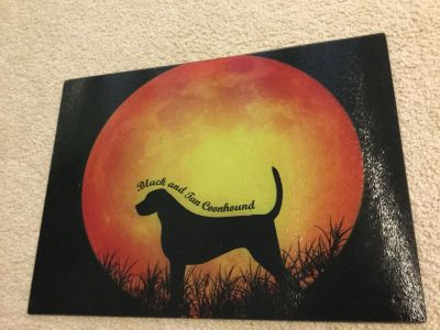 NEW Coonhound cutting board