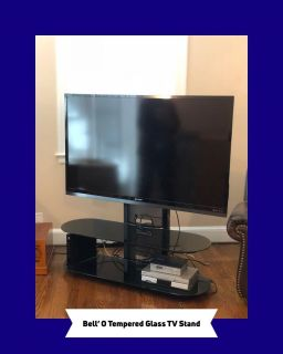 TV STAND/ TEMPERED GLASS