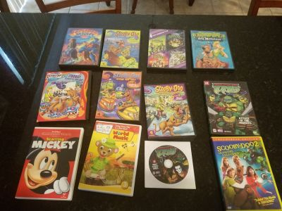 Group of Cartoon DVD Movies TMNT and Scooby Doo