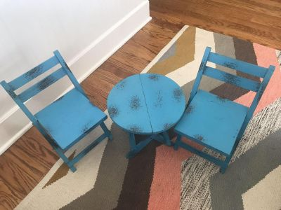 Adorable American Girl / Our Generation / My Life Doll Sized Table and 2 Chairs! (From Hobby Libby) SO CUTE!