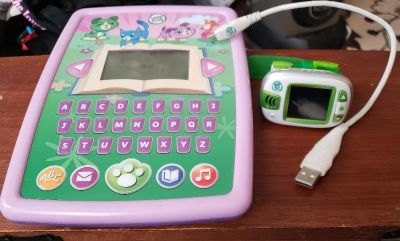 LeapFrog storytime pad, smart watch, & charger