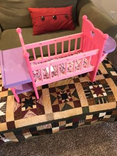 Baby doll crib/changing table/ high chair
