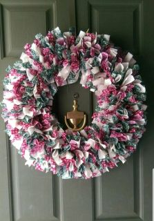 Red, green and white holiday wreath