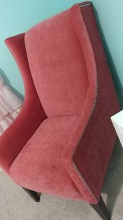 Pink arm chair