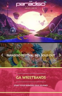 Looking for Paradiso 2 day wristbands