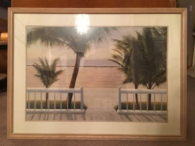 Framed Palm Tree Picture