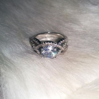 Brand New Silver Plated CZ Ring