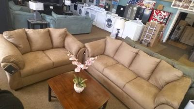 DARCY MOCHA SOFA/LOVESEAT