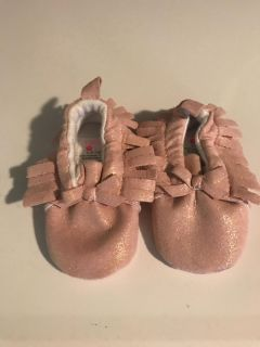 Vintage Pearly Pink Moccasins