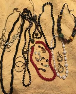 Lot of vintage and current day costume jewelry