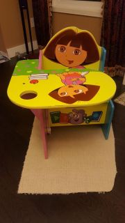 Dora table with storage bench