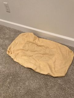 Yellow changing pad cover