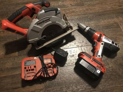 Tools saw and drill