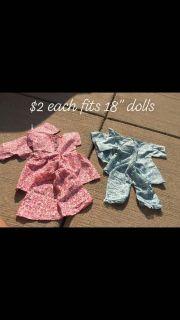 """Doll clothes for 18"""" group 2"""