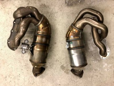 997 Cayman S or 987 Boxster S Exhaust Manifold w/ Catalytic Converter