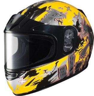 Buy HJC CL-Y Katzilla Yellow Small Dual Lens Youth Snowmobile Snow Sled Helmet Sml motorcycle in Ashton, Illinois, US, for US $98.99