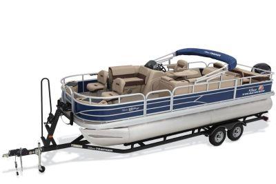 2018 Sun Tracker Fishin' Barge 22 DLX Pontoon Boats Boats Gaylord, MI