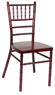 MAHOGANY ALUMINUM CHIAVARI CHAIR from chairstables2001