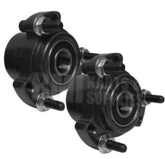 Find Set of 2 - Black Front Wheel Hub 5/8 Bearing Racing Go Kart Cart Drift Trike NEW motorcycle in Versailles, Ohio, United States, for US $32.95