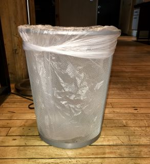 Selling 26 Seville Classic Mesh Silver Wastebaskets