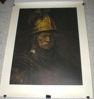 $500, Rembrandt Man in a Golden Helmet Litho Print - Embossed Seal
