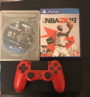 Playstation 4 (PS4) w/ 2 games and controller