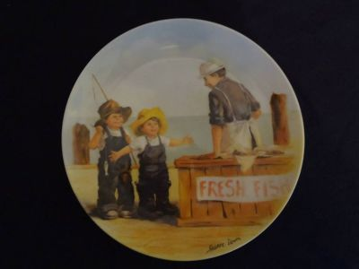 Fish Story Plate - 8-1/2 diameter - registered number