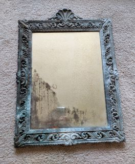 Antique mirror with real age spots, character!