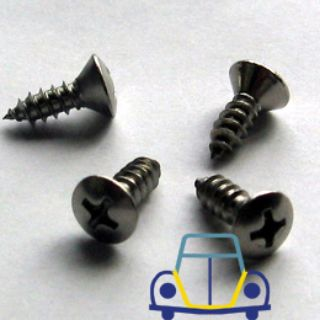 Ghia Front Defroster Trim German Stainless Screws