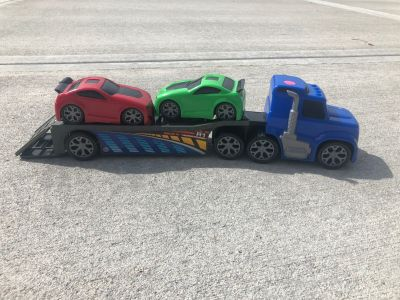 Hauler with two cars