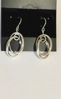 Sterling Silver 925 Thick Double Hoop Earrings