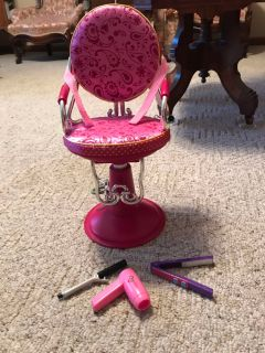 OG Styling Chair & Curling Iron, Blow Dryer, & Flat Iron
