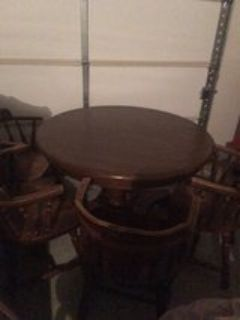 solid wood dining table plus 4 chairs