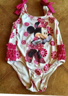 Sweet & Sassy Minnie Mouse Sparkly Polka-Dot Ruffle Bum One-Piece Swimsuit