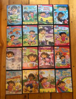 Dora and Diego DVD Lot! 16 titles! Kids movies.