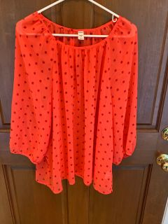 Adorable Coral Sheer Dotted Shirt from Old Navy Brand New w Tag Women s Size XXL