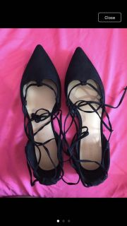 Pointed flats sandals