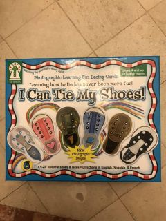 I can tie my shoes cards