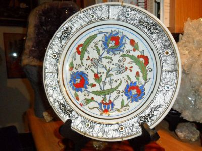 Beautiful Rare Kutahya Porselen Fine Porcelain Floral Pattern Plate
