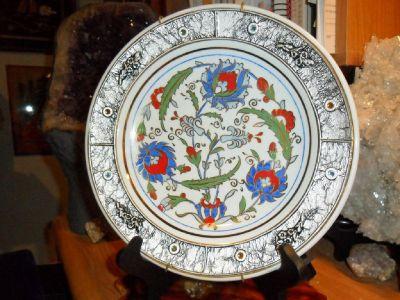 Beautiful Rare Kutahya Porselen Fine Porcelain Floral Pattern Plate
