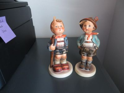 """Hummel Figurines """"Little Hiker"""" and """"Brother"""""""