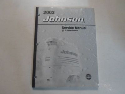 Find 2003 Johnson ST 4 Stroke Models Service Repair Manual BOAT MINOR WATER DAMAGE 03 motorcycle in Sterling Heights, Michigan, United States, for US $19.99