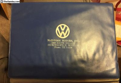 McIntosh motors- Missouri manual folder
